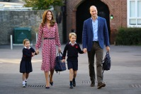 Princess Charlotte's first day at school, Thomas's Battersea