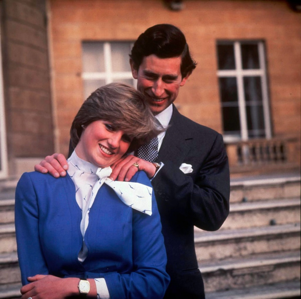 A Portrait of Prince Charles and Princess Diana On the Day Their Engagement is Announced 1981