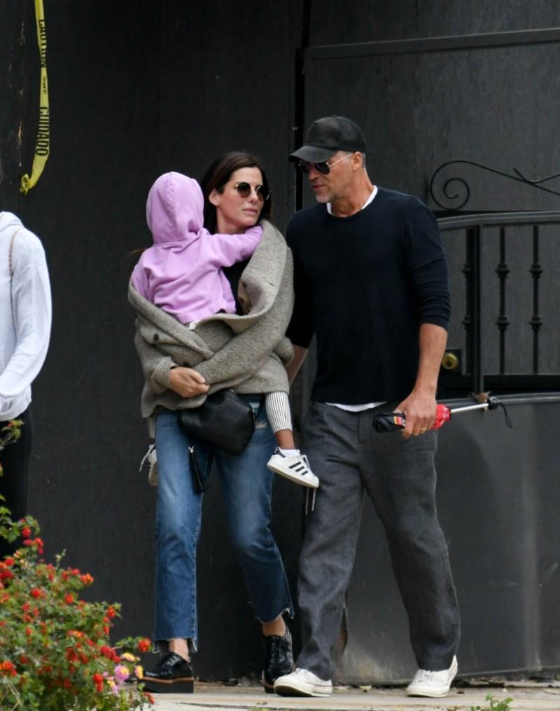 Sandra Bullock and Bryan Randall take Laila to Children's Theater in LA