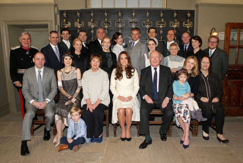 downton abbey cast with kate middleton
