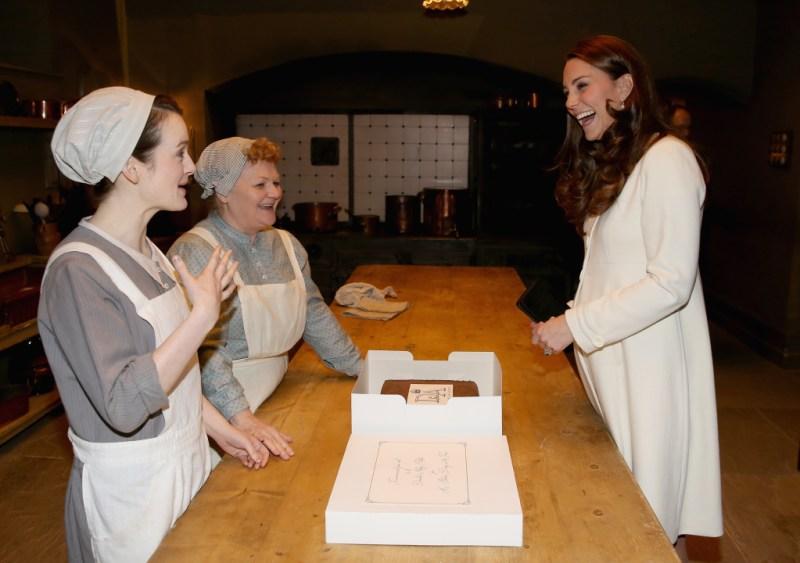 Kate Middleton visits Downton Abbey