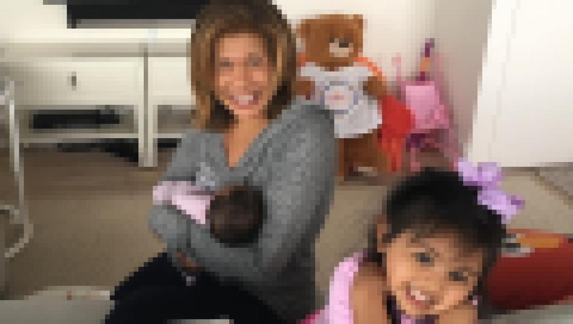 Hoda Kotb and her kids