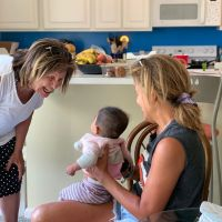 Hoda Kotb with her mom and baby