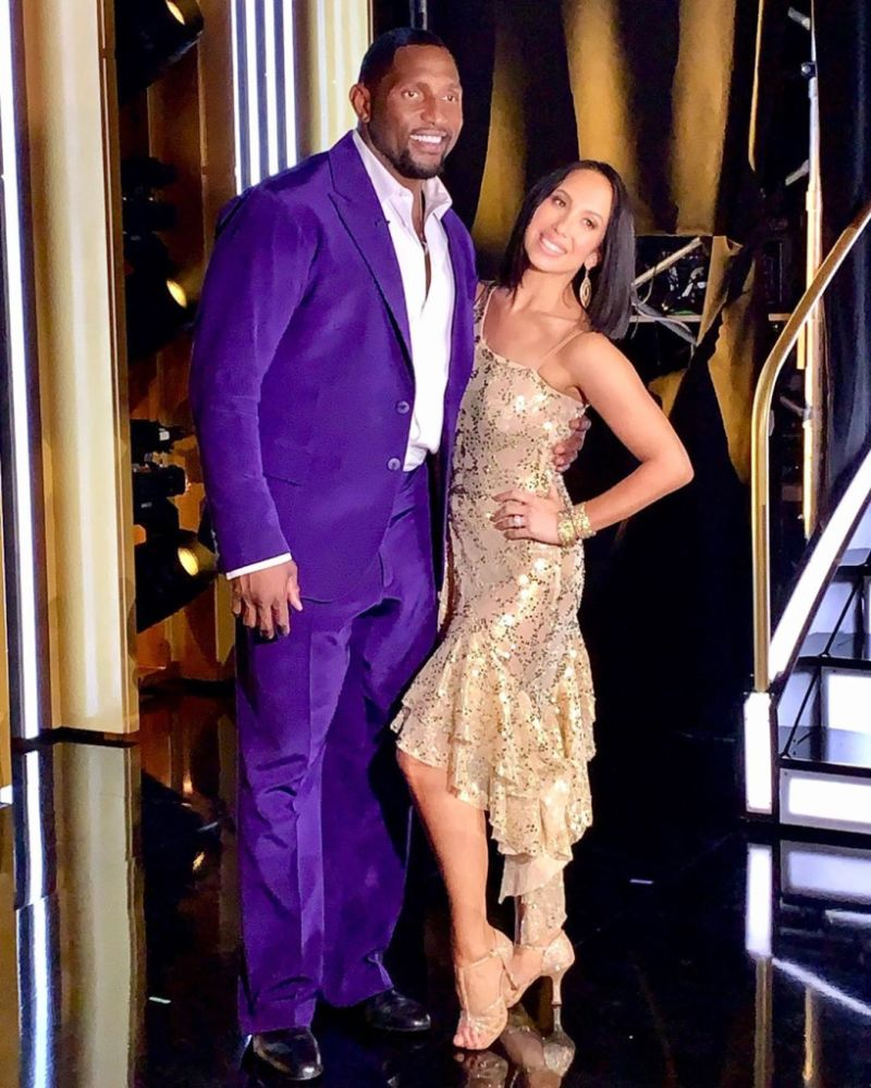 Cheryl Burke and Ray Lewis