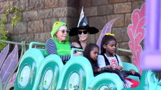Charlize Theron Celebrates Halloween With Her Family at Disneyland