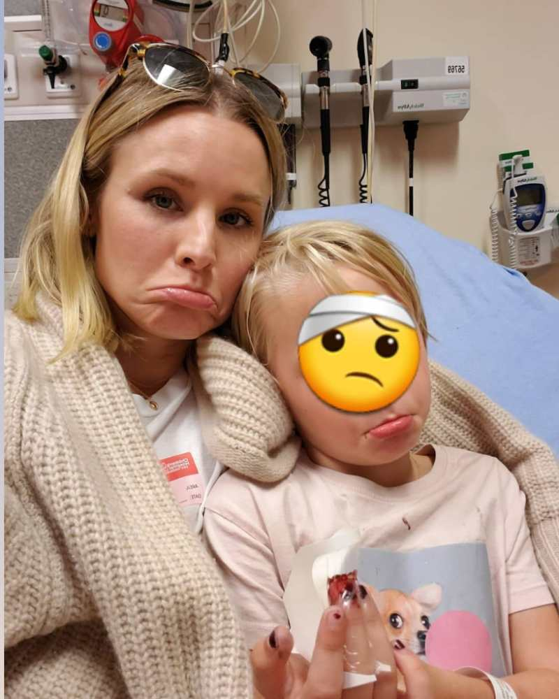 Kristen Bell Snaps a Selfie With Daughter in Emergency Room