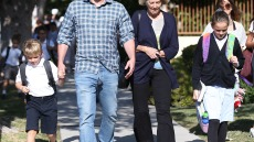 Ben Affleck Has a Heart-to-Heart With Mom Christine While Picking Up Kids From School