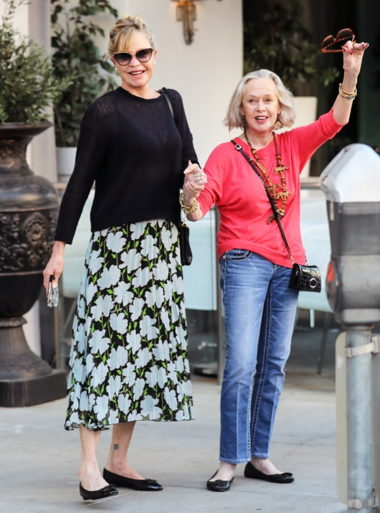 Melanie Griffith leaves office mother by her side Beverly Hills
