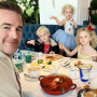 James Van Der Beek and his family