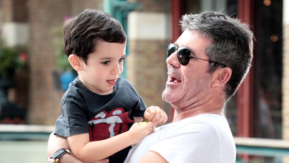 Simon Cowell and his son Eric Cowell