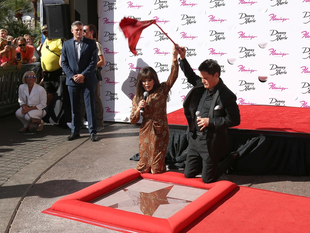 Donny and Marie Osmond Honored by Las Vegas Walk of Stars at the Flamingo