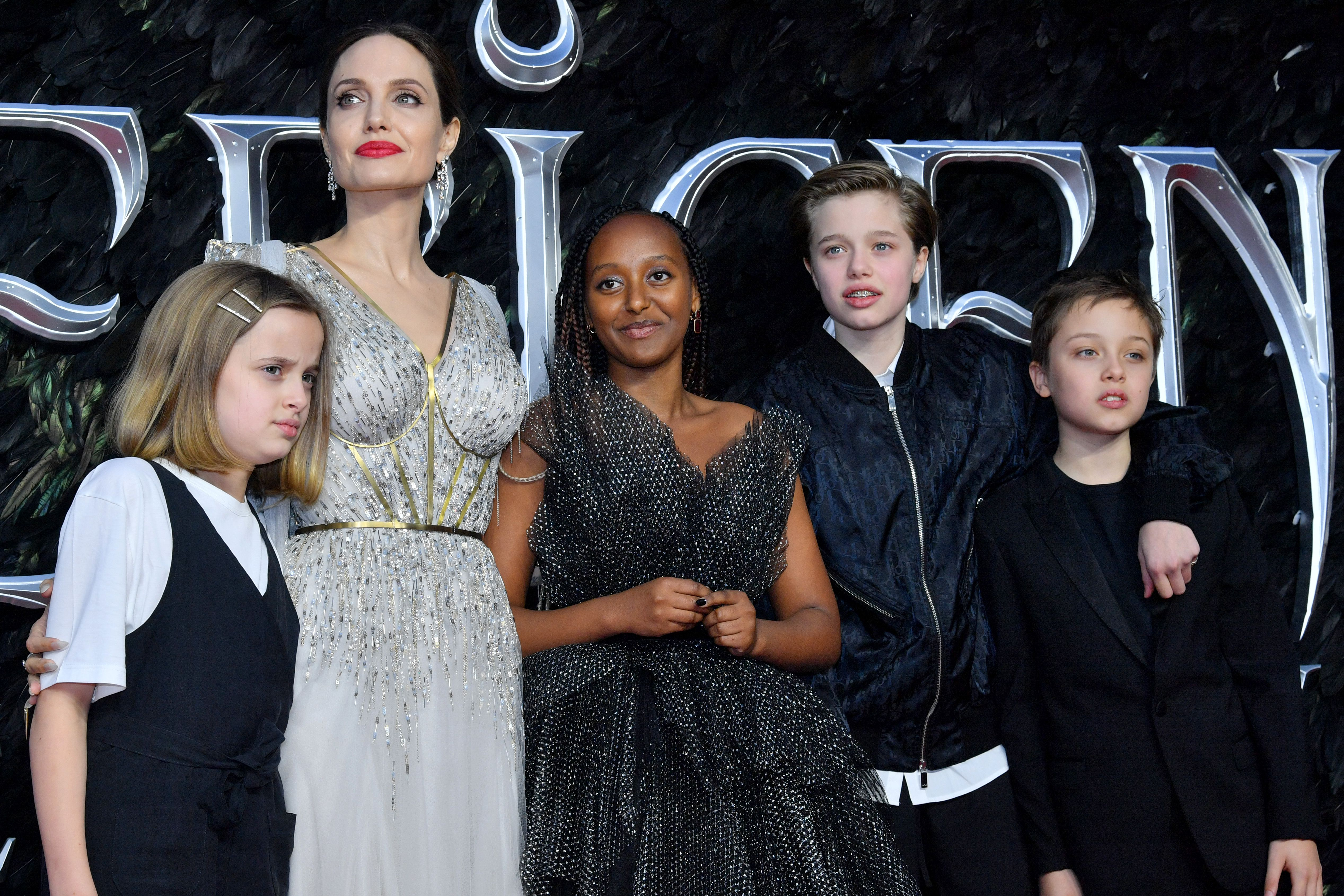 Angelina Jolie And Kids Attend Maleficent 2 Premiere In London