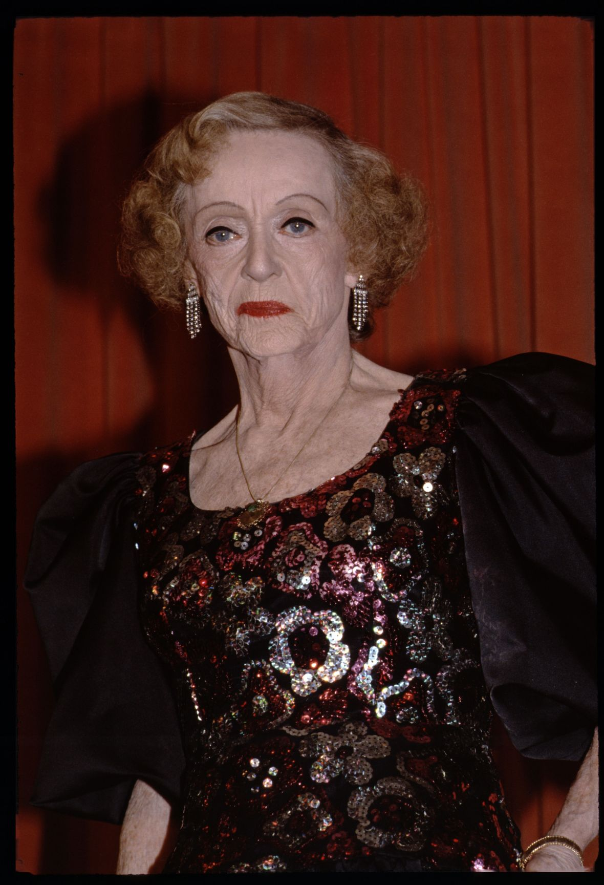 Bette Davis at the 1986 Golden Globes