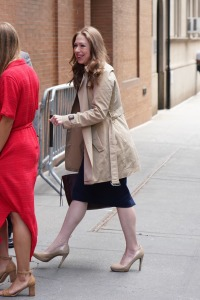 Chelsea Clinton is seen arriving at The View.