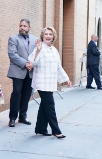 Hillary Clinton is seen leaving The View.