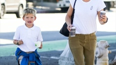 Jennifer Garner Grabs Treats With Son Samuel After Picking Him Up From School