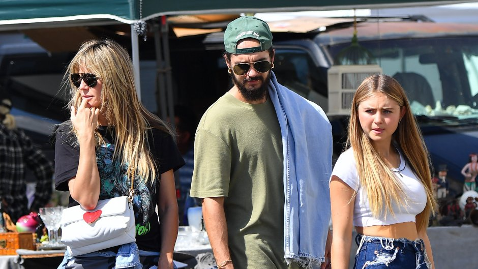 Heidi Klum and her husband Tom Kaulitz enjoy some beers as they stroll through a local flea market