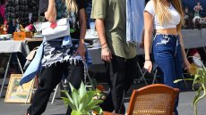 Heidi Klum Enjoys the Flea Market With Husband Tom Kaulitz and Daughter Leni