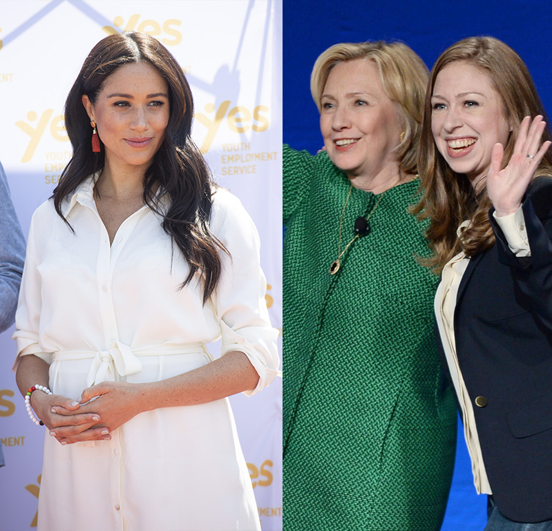 Hillary and Chelsea Clinton Defend Duchess Meghan Against Public Scrutiny: 'Shame on Everybody'
