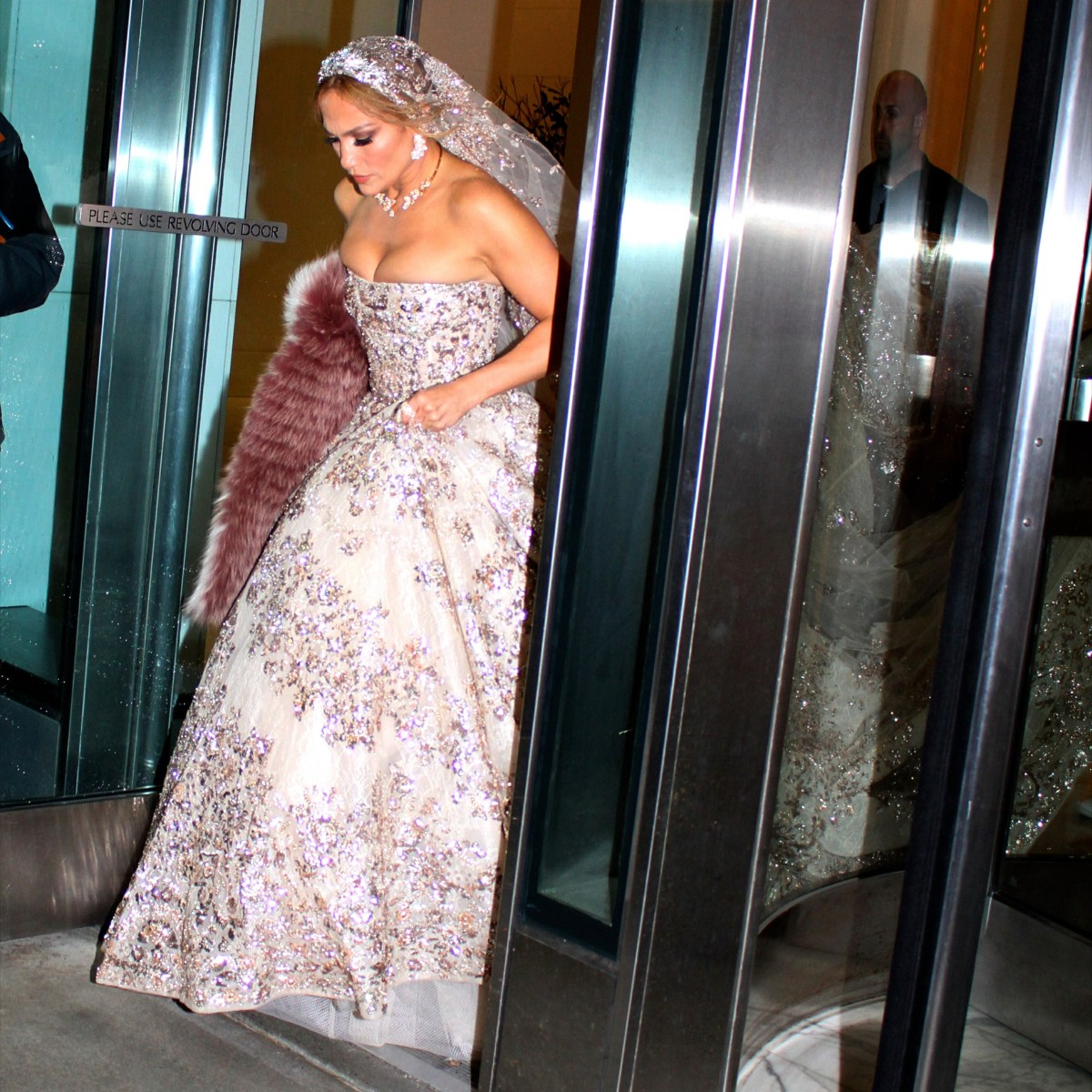Jennifer Lopez Stuns in Lavish Wedding Gown While Filming Scenes for New Movie 'Marry Me'