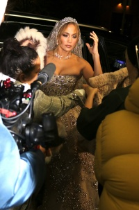 Jennifer Lopez Films Scene for Movie Marry Me