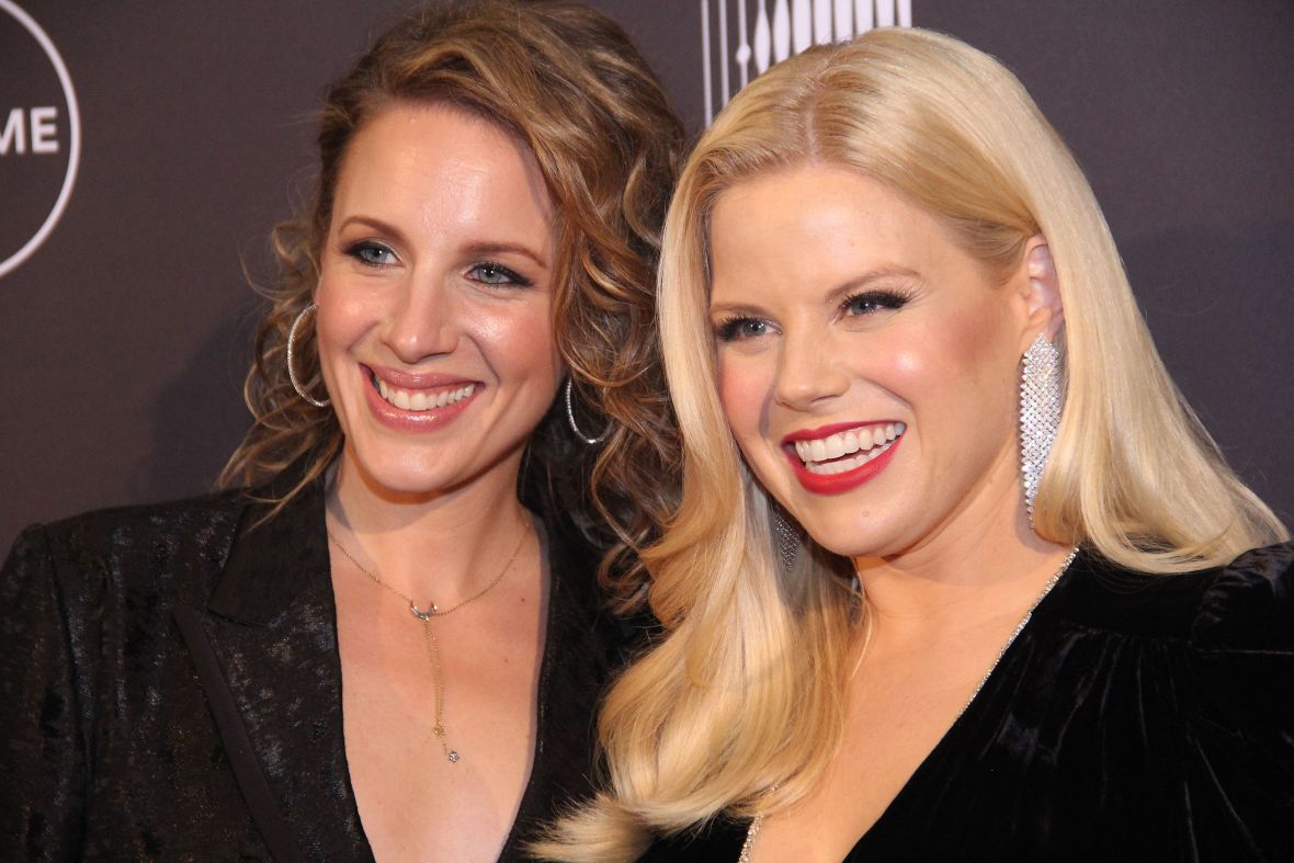Jessie Mueller and Megan Hilty at the 'Patsy & Loretta' Premiere