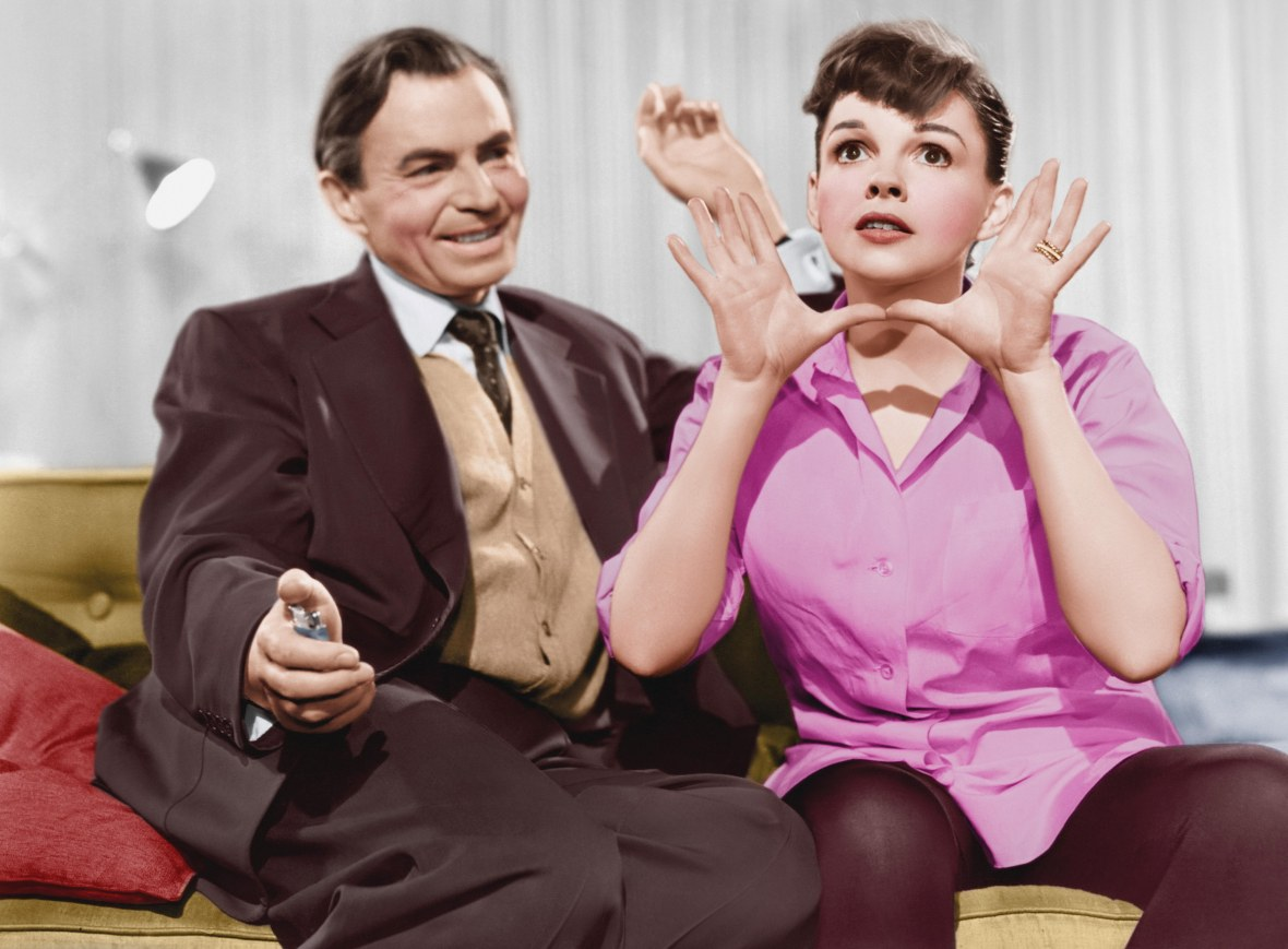 Judy Garland and James Mason in 'A Star Is Born' 1954