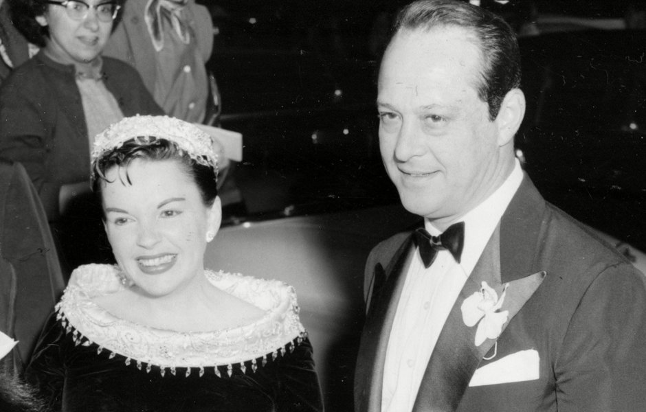 Judy Garland and Sid Luft at the Premiere of 'A Star Is Born' in 1954