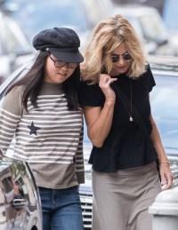 Meg Ryan and her daughter Daisy True Ryan in New York