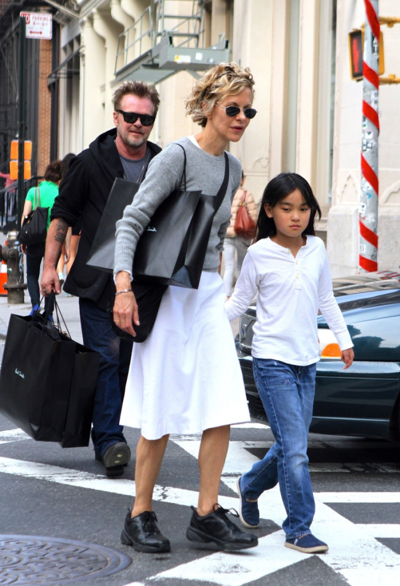 Meg Ryan out and about, New York, America - 13 Apr 2014