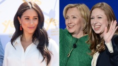 meghan markle with hillary clinton and Chelsea Clinton