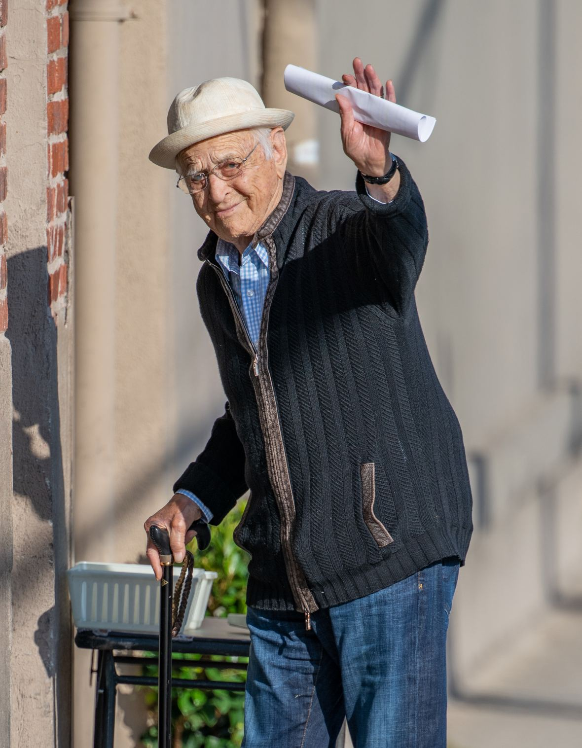 Norman Lear out and about heading to 'Jimmy Kimmel Live'