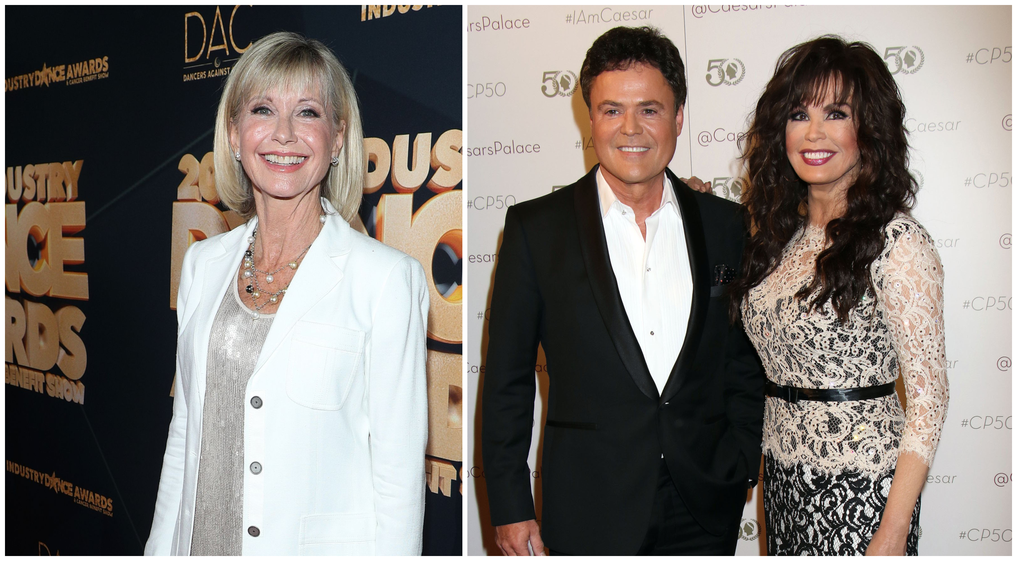 Olivia Newton-John and Husband John Attend the 'Donny & Marie' Show in Las Vegas