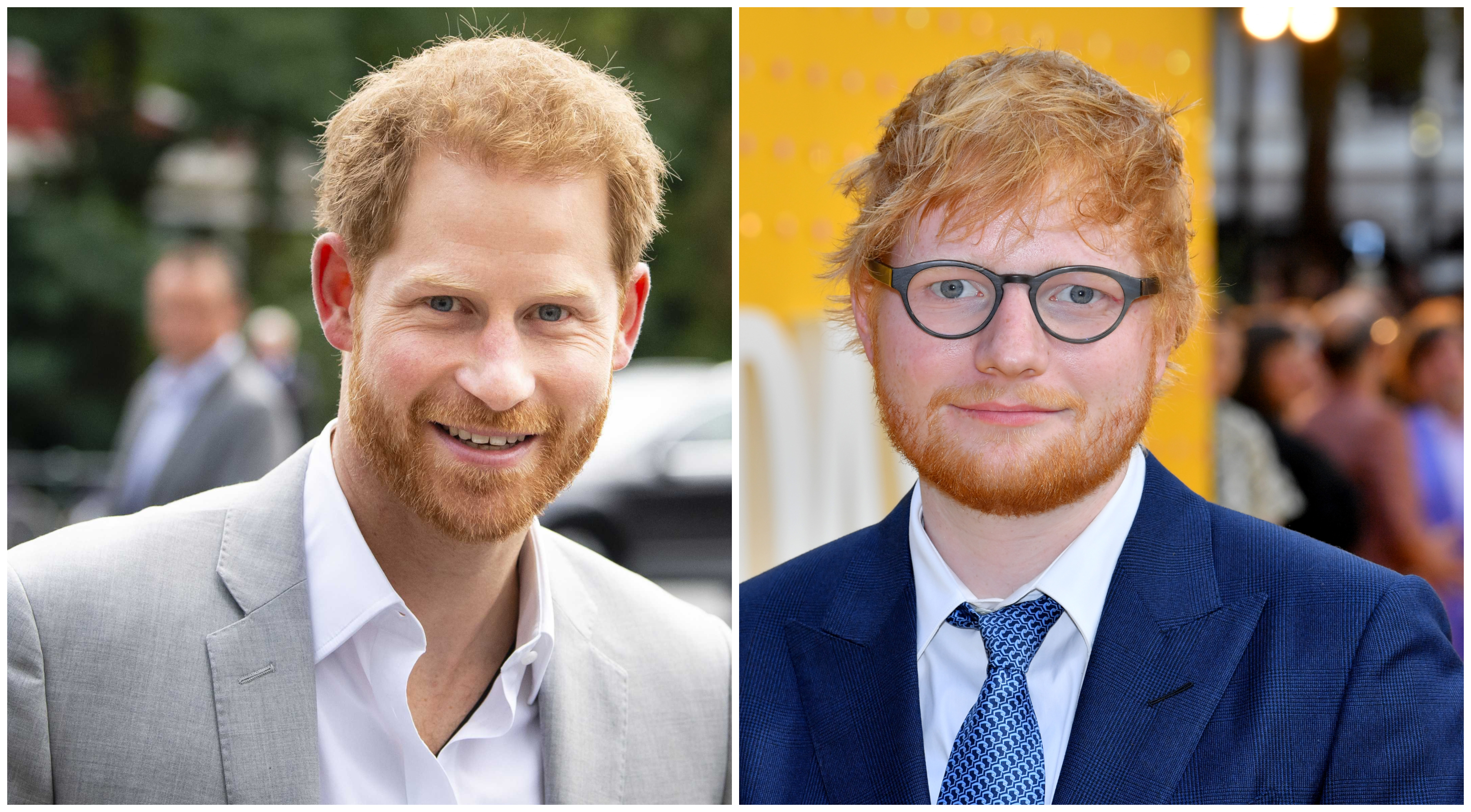 Prince Harry And Ed Sheeran Bond Over Their Ginger Hair Video