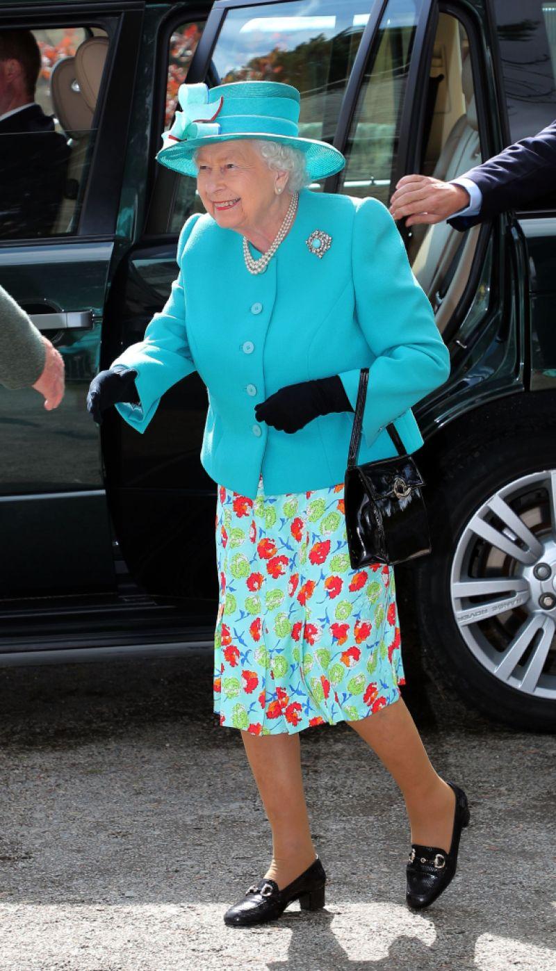 Queen Elizabeth visits Braemar and Crathie Parish Church, Aberdeenshire, Scotland - 17 Aug 2019