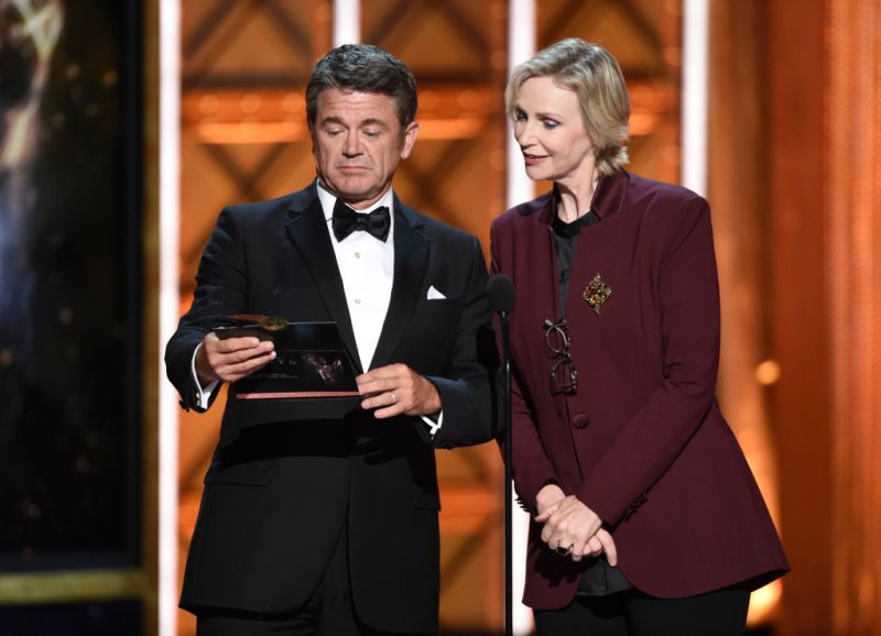 John Michael Higgins and Jane Lynch
