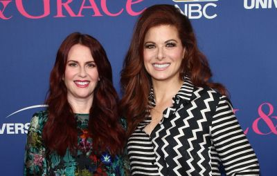 Debra Messing and Megan Mullally
