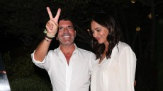 Simon Cowell and Lauren Silverman fresh back from the weekend in Cabo' Mexico were seen arriving at 'AGO' Restaurant for the 'America's Got Talent' party in West Hollywood, CA
