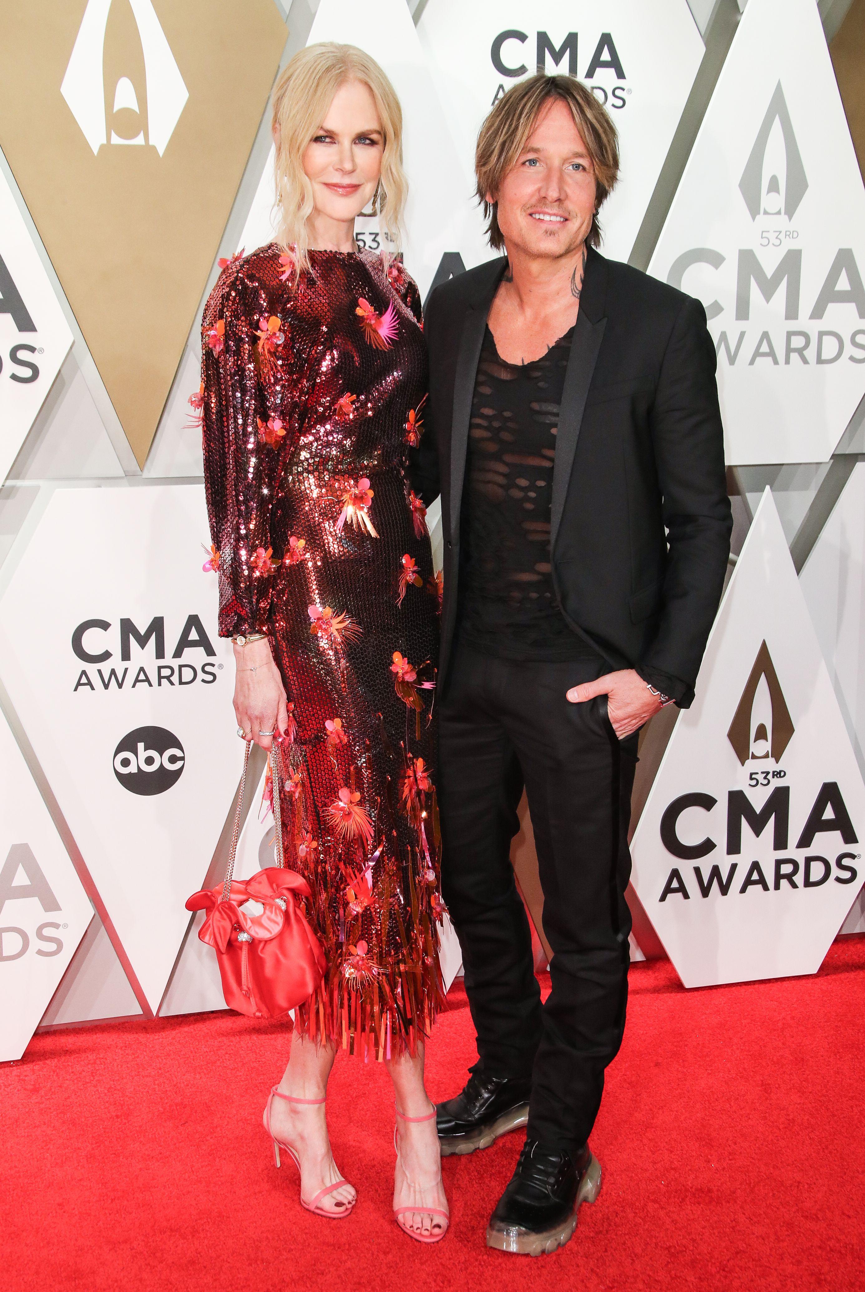 Nicole Kidman and Keith Urban at the CMAs 2019 Red Carpet