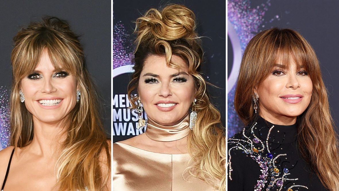 Heidi Klum Shania Twain and Paula Abdul at AMAs 2019