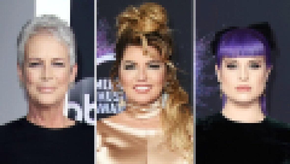 Jamie Lee Curtis Shania Twain and Kelly Osbourne at AMAs 2019
