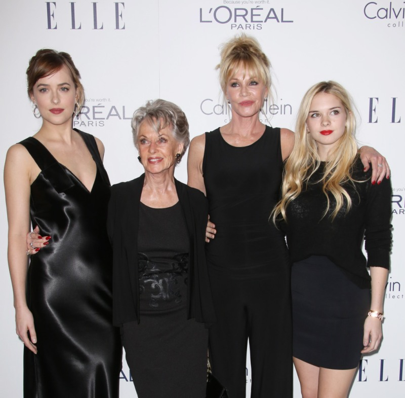 Melanie Griffith Tippi Hedren Dakota Johnson Stella Banderas