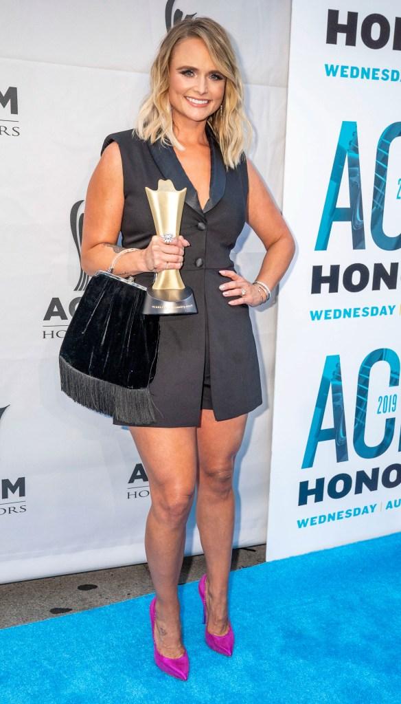 Miranda Lambert Poses in a Little Black Dress at the ACM Honors
