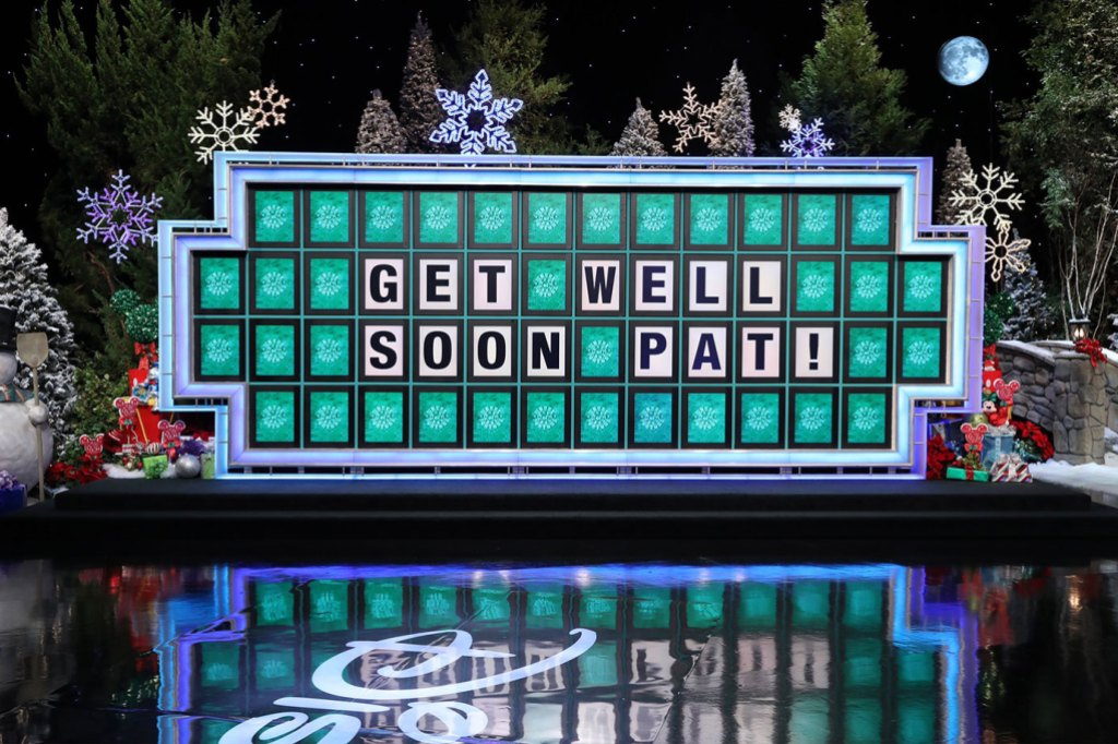 Wheel Of Fortune Letters Spelling Out GET WELL PAT!