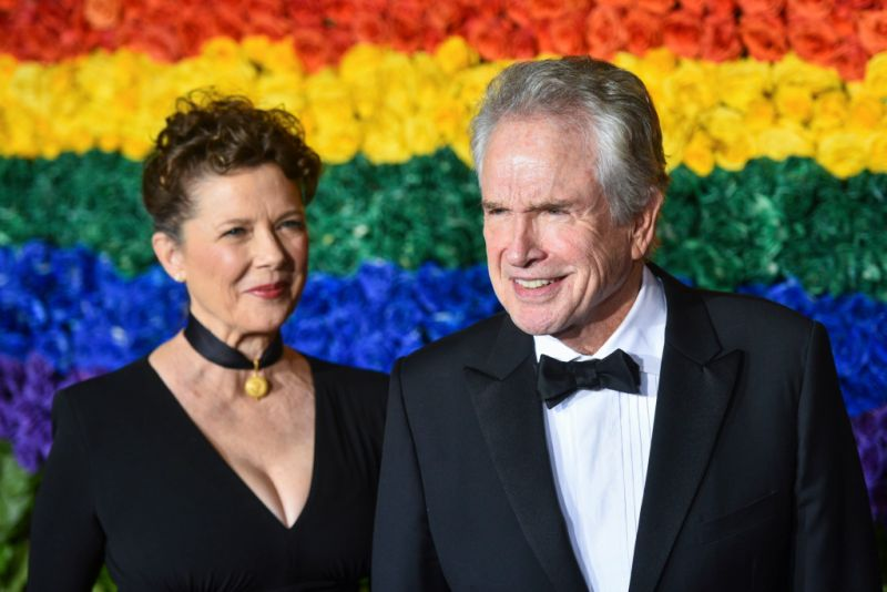 Annette Bening and Warren Beatty at the 2019 Tony Awards