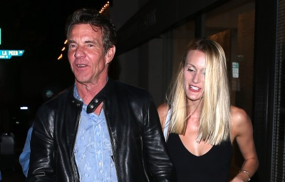 Dennis Quaid and girlfriend Laura Savoie were seen leaving dinner at 'Craigs' Restaurant in West Hollywood, CA