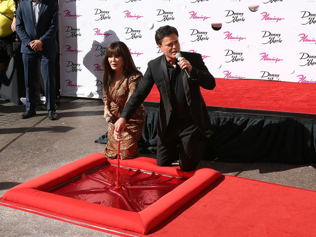 Marie Osmond and Donny Osmond honored on the Las Vegas Walk of Stars, USA - 04 Oct 2019