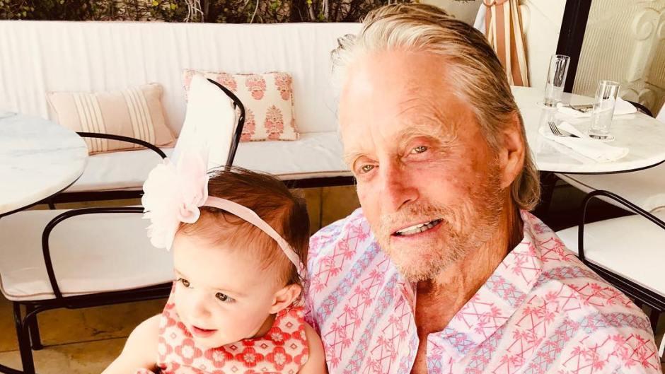 Michael Douglas and Granddaughter Lua