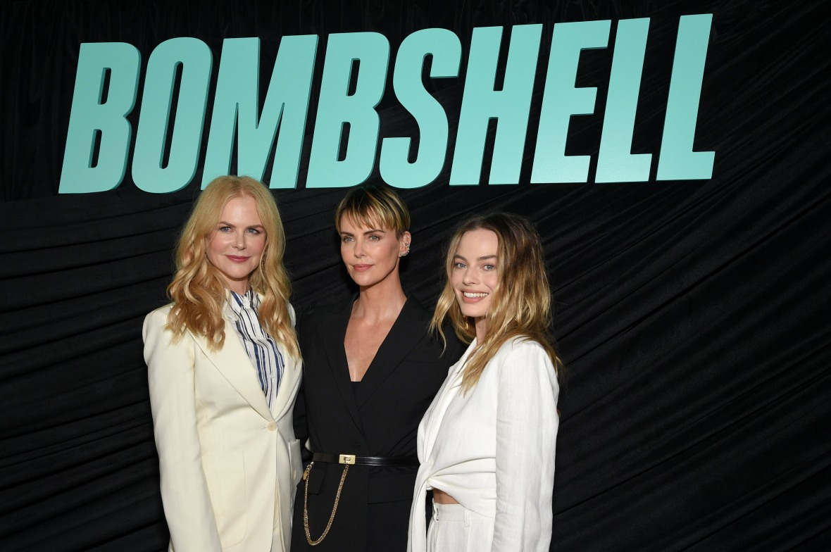 Nicole Kidman, Charlize Theron and Margot Robbie at a 'Bombshell' Screening