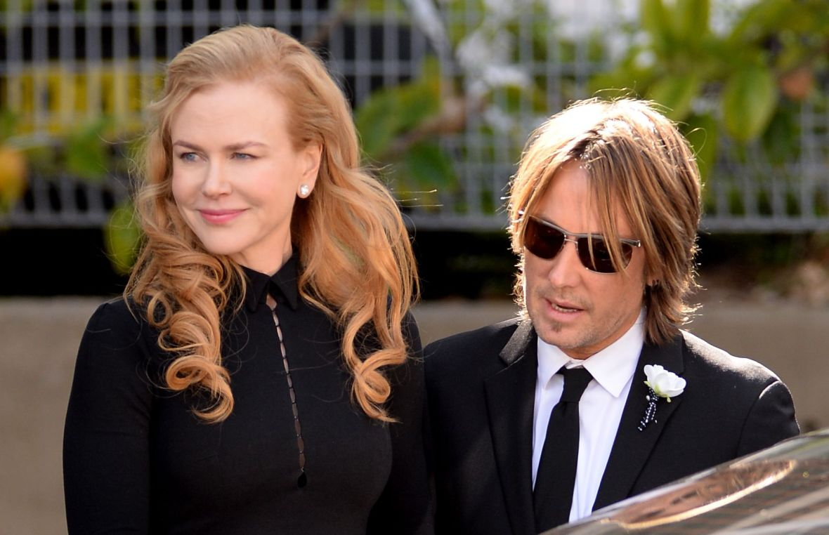 Nicole Kidman and Keith Urban at Antony Kidman's Funeral in Australia in 2014
